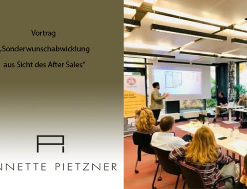 """Annette Pietzner referiert zum Thema """"Sonderwunsch-Abwicklung aus Sicht des After Sales"""""""